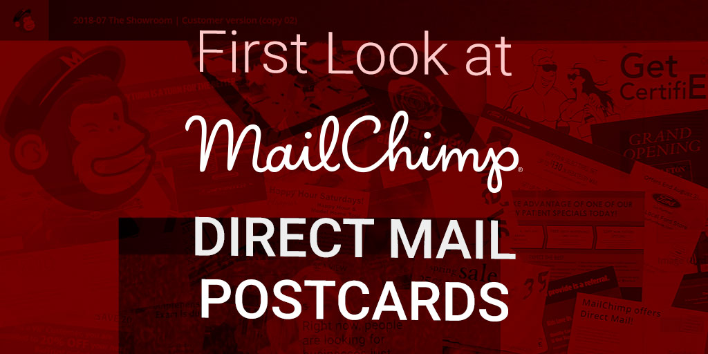 mailchimp direct mail postcards first look